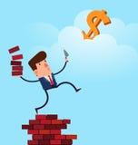 Geschäftsmanngestalt eine Struktur, zum seins für Erfolg zu erreichen Lizenzfreies Stockbild