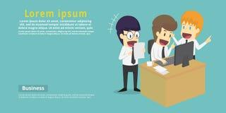 Geschäftsmanngruppenbrainstorming auf Sitzung und sich darstellen Ideen Stockbild