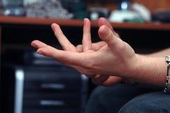Geschäftsmannhände lizenzfreies stockbild