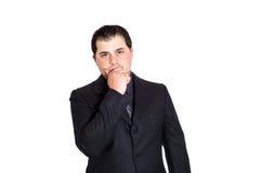 Geschäftsmannhand auf Gesicht Lizenzfreie Stockbilder