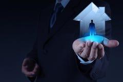 Geschäftsmannhandholding Lizenzfreies Stockfoto