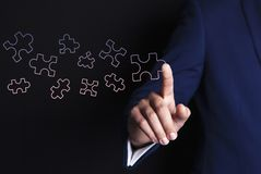Geschäftsmannhandpuzzlespiel vektor abbildung