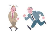 Geschäftsmannhilfe sein Kollege vom Problem Lizenzfreie Abbildung