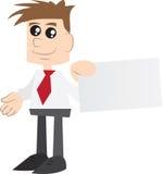 Geschäftsmannholding Visitenkarte stock abbildung