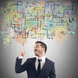 Geschäftsmannideenplan Lizenzfreies Stockfoto