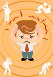 Geschäftsmannkopfschmerzen Stockfotos