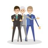 Geschäftsmannmannesfreunde Flache Vektorillustration der Charakterleute Lizenzfreies Stockfoto