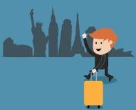 Geschäftsmannreise auf der ganzen Welt Lizenzfreie Stockfotos
