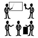 Geschäftsmannsatz Stockbild