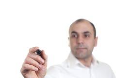 Geschäftsmannschreiben Stockfoto