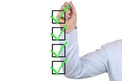 Geschäftsmannschreibens-GeschäftserfolgKonzept Lizenzfreie Stockbilder