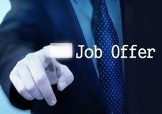 Geschäftsmannschreibenswort JOB stockfoto