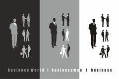 Geschäftsmannschwarzes, Grau, weiß stockfotos