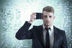 Geschäftsmannspeicherverbesserung Lizenzfreie Stockfotografie