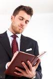 Geschäftsmanntagesordnung Stockfotos