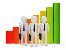 Geschäftsmannteamdiagramm stock abbildung