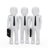 Geschäftsmannteamwork lizenzfreie abbildung