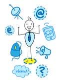 Geschäftsmanntechnologie Stock Abbildung