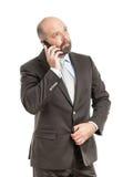 Geschäftsmanntelefon lizenzfreies stockbild