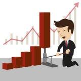 Geschäftsmanntraum Stockfoto