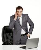 Geschäftsmannunterhaltung Lizenzfreie Stockbilder