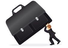 Geschäftsmann mit einem Koffer Stockfoto