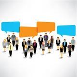 Geschäftsmannversammlung und -gespräch zusammen Lizenzfreies Stockfoto