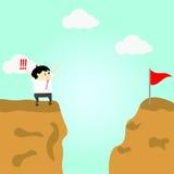 Geschäftsmannversuch zum Erfolg Stockbild