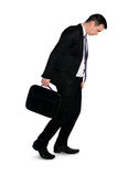 Geschäftsmannweg niedergedrückt Stockfoto
