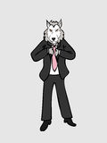 Geschäftsmannwolf lizenzfreie abbildung