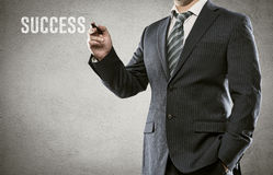 Geschäftsmannzeichnung Stockbild