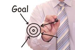 Geschäftsmannzeichnung Zielwort Lizenzfreie Stockbilder