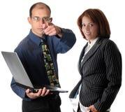 Geschäftsmannzeigen Lizenzfreies Stockfoto