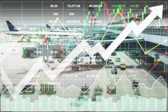 Geschäftsmarketing-Daten in der Reiseveranstalter-Investition Lizenzfreies Stockbild