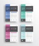 Geschäftsmarketing-Flieger /brochure/poster/ und Bericht entwerfen Schablone stock abbildung