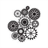 Geschäftsmechanismuskonzept entziehen Sie Hintergrund Stockbild