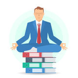 Geschäftsmeditation A Lizenzfreie Stockbilder