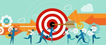 Geschäftsmetapher taget Team-Arbeitsrichtung Lizenzfreies Stockfoto