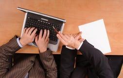 Geschäftsmitarbeit Lizenzfreies Stockfoto