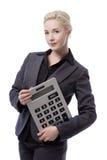 Geschäftsmodell mit Taschenrechner Lizenzfreie Stockfotografie