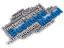 Geschäftsmodellwörter lizenzfreie abbildung