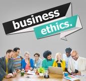 Geschäftsmoral-Integritäts-Ehrlichkeits-Vertrauens-Konzept stockfotos