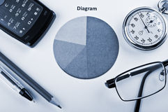 Geschäftsnachrichten und Finanzdiagramm Stockfotos