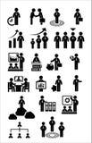 Geschäftsnetz-Ikonensatz Stockfoto