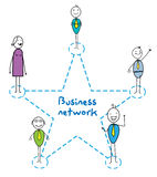 Geschäftsnetz-Sternzeichen Vektor Abbildung