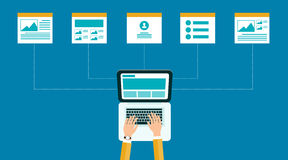 Geschäftson-line-Inhalt Webdesignstruktur und -plan Lizenzfreie Stockfotos
