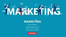 Geschäftsperson des Marketings Konzeptgeschäftsfahne von Website Stockfotografie