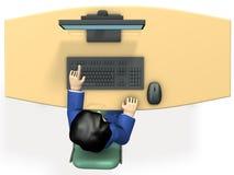 Geschäftsperson, die zu Information sucht Stockbilder
