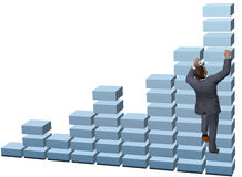 Geschäftspersonen-Aufstiegswachstumstabelle Lizenzfreies Stockbild