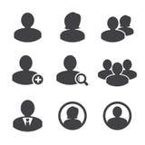 Geschäftspersonen und Benutzerikone vektor abbildung